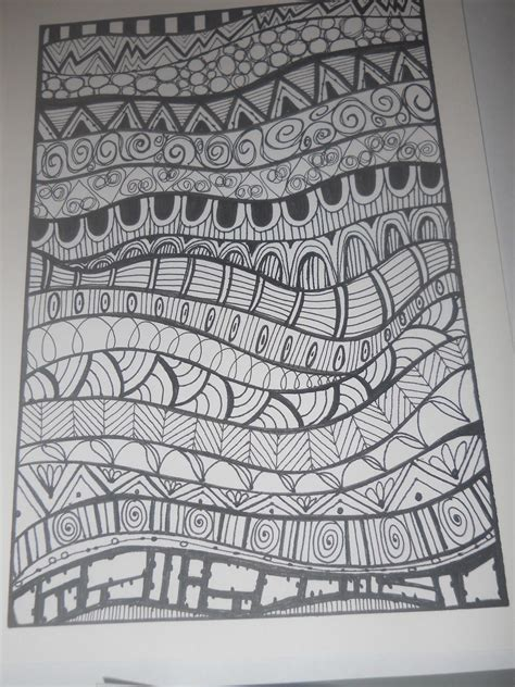 pattern drawing easy zentangle basics patterns for kids google search