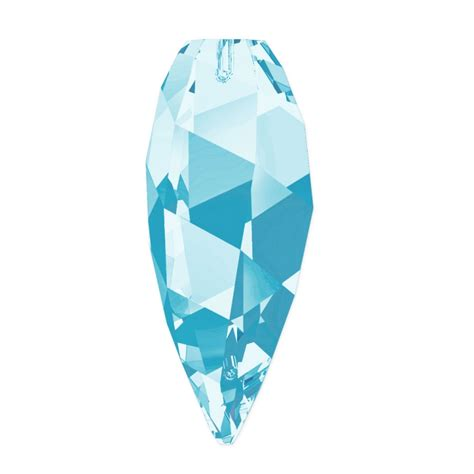 swarovski drop twisted drop swarovski 6540 30 mm aquamarine x1