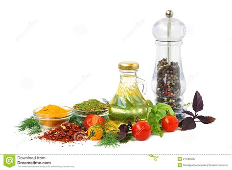 Kitchen Ingredients by Ingredients For Cooking Stock Image Image Of Mill Glass