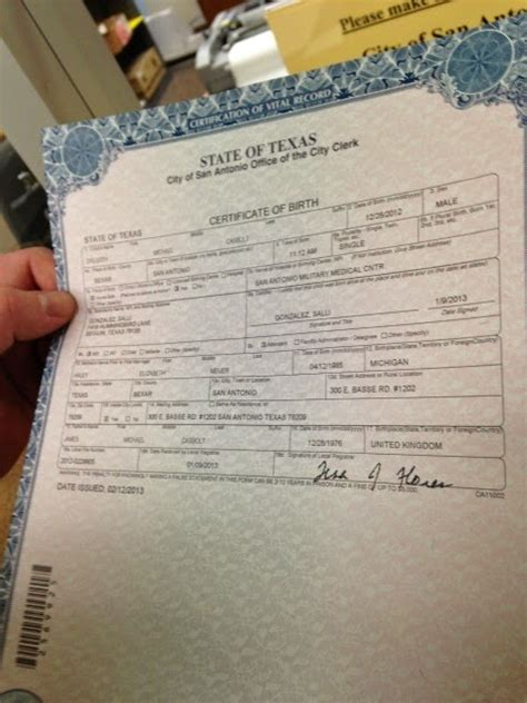 Marriage Records San Antonio Get Vital Record Birth Certificate Birth Certificate