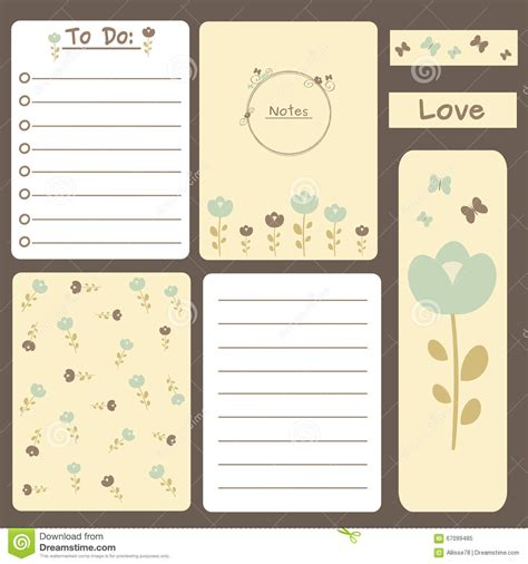 to do stickers cute romantic printable journal cards notes to do list