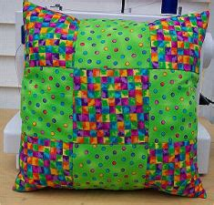 Everyday Celebrations Simple Patchwork Pillows Free Pattern - learn to quilt kit easy quilt kit free quilt patterns