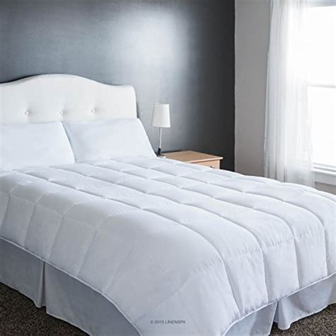queen size goose down comforter linenspa white goose down alternative quilted comforter with corner duvet tabs queen size