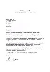 Resignation Letter Header by Labour Mp Shadow Cabinet Resignation Letters Ranked Vice