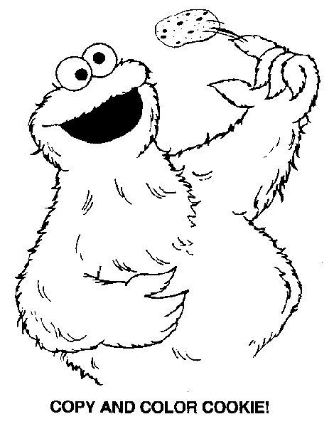 coloring book pages cookie monster 8 best images about cookie monster on pinterest