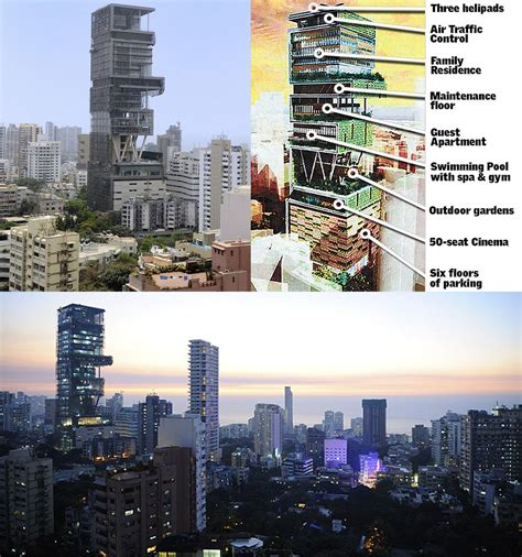 ambani house antilla mukesh ambani and nita s house at altamount road mumbai photos