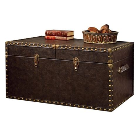 Trunk Coffee Tables Furniture Furniture Of America Lange Trunk Coffee Table In Antique Brown Idf Ac146