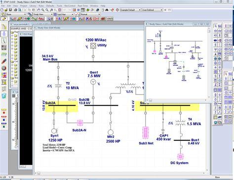 electrical one line diagram software etap中国 电力电气软件分析系统 弧闪 短路 潮流分析 电机启动