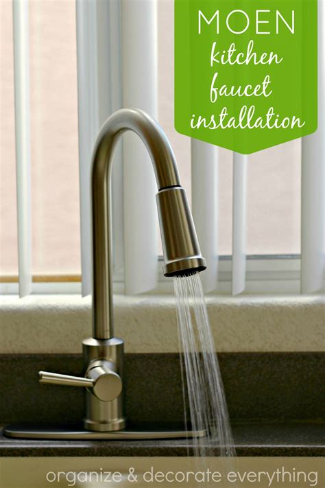 kitchen sink faucet installation moen kitchen faucet installation organize and decorate