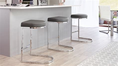 Bar Stools Designer Contemporary by Contemporary Faux Leather And Chrome Bar Stool Uk