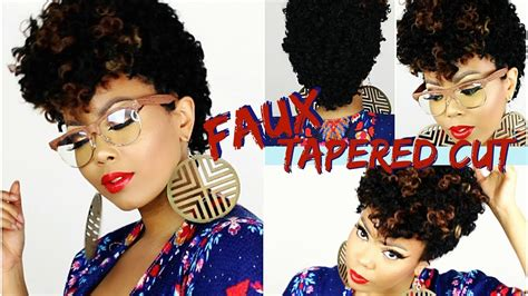 easy crochet faux tapered cut wig twa style affordable