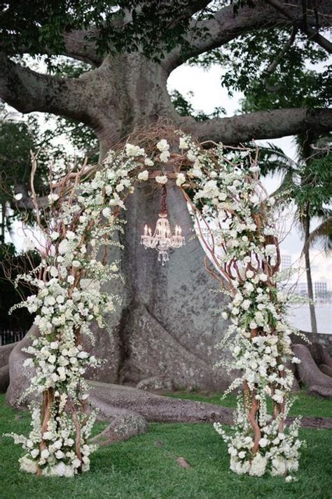 Wedding Arch With Flowers by 30 Winter Wedding Arches And Altars To Get Inspired