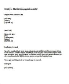 Appreciation Letter For Employee Performance 28 Appreciation Letters In Doc