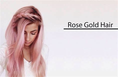 rose gold hair dye the rose hair color trend is everywhere 9 rose gold hair