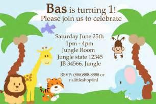 Jungle Invitation Template safari invitation template