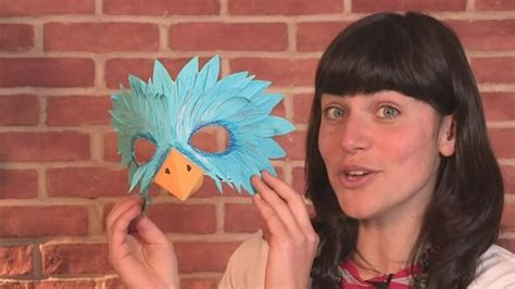 How To Make A Bird Beak Out Of Paper - how to make a bird mask pooh