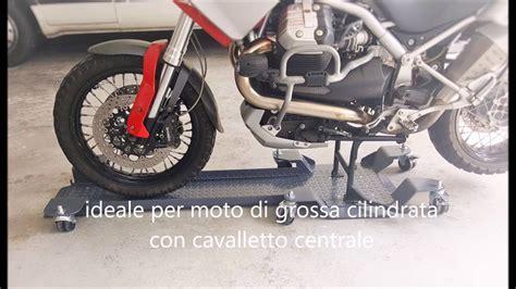 pedana parcheggio moto pedana carrello sposta accosta parcheggia moto