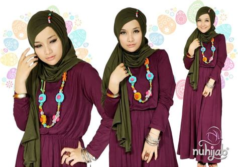 Pashmina Instan colorful with chic dress and shawl turban instant aleena muslima boutique
