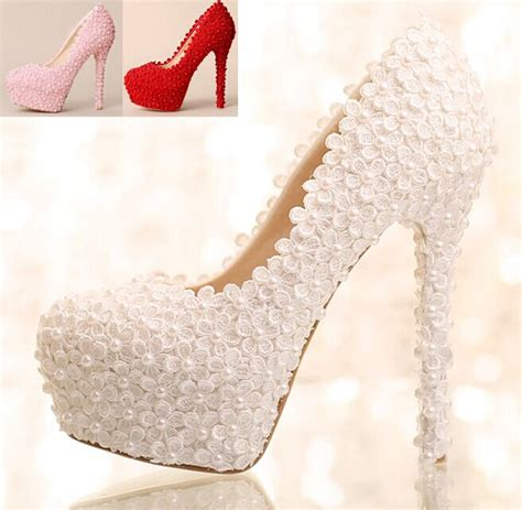 pink and white high heels white lace shoes pumps wedding dress shoes pink shoes lace