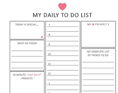 To Do List Planner To Do List Template To Do List Planner Template