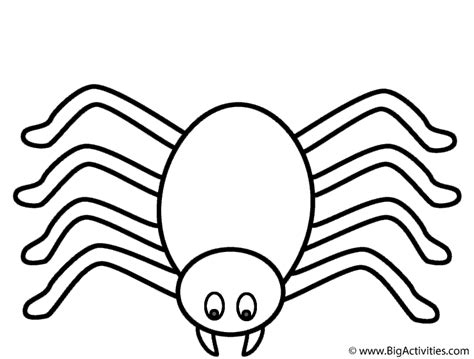 spider clouring free colouring pages
