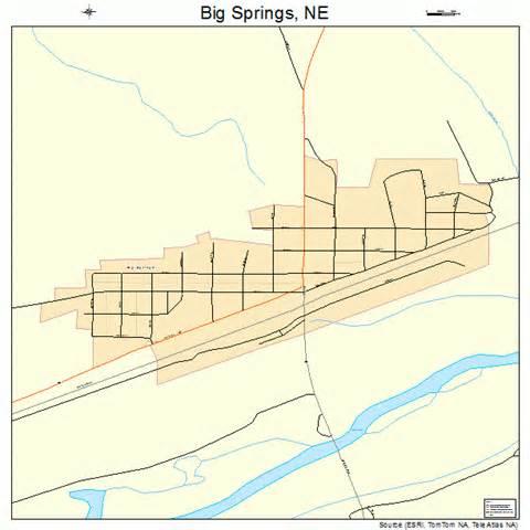 big springs map big springs nebraska map 3104895