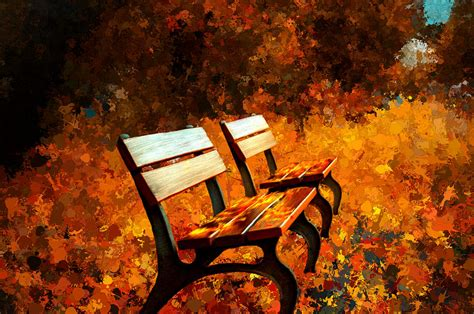 park bench painting two park benches painting by bruce nutting
