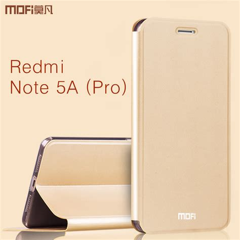 New Xiaomi Redmi Note 5a Note5a Not 5a Not5a Xiomi Ume Flip Cover Leat redmi note 5a pro xiaomi redmi note 5a flip cover mofi original pu leather book style