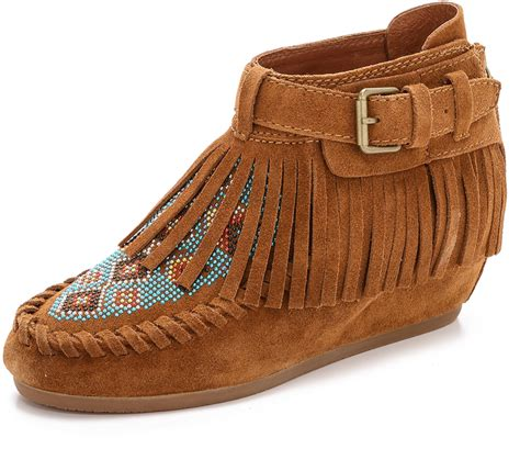 beaded moccasin boots ash serpico beaded fringe moccasins shopstyle boots