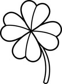 Shamrock Outline Clipart by Four Leaf Clover Outline Cliparts Co