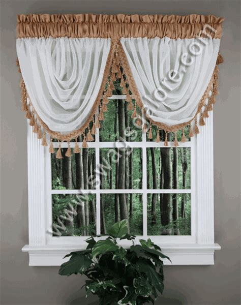 Swags Galore Valances Soho Waterfall Valance Espresso Stylemaster Kitchen