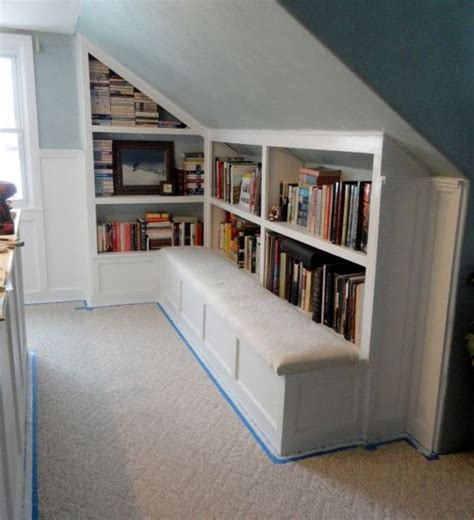 bedroom book storage creative attic storage ideas and solutions shelf ideas