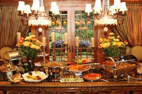 fall buffet table decorations fall buffet tablescape tablescapes