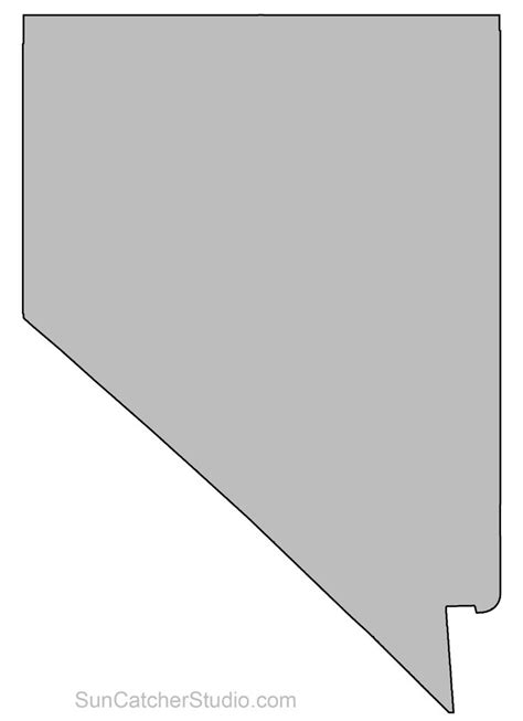 nevada map outline printable state shape stencil