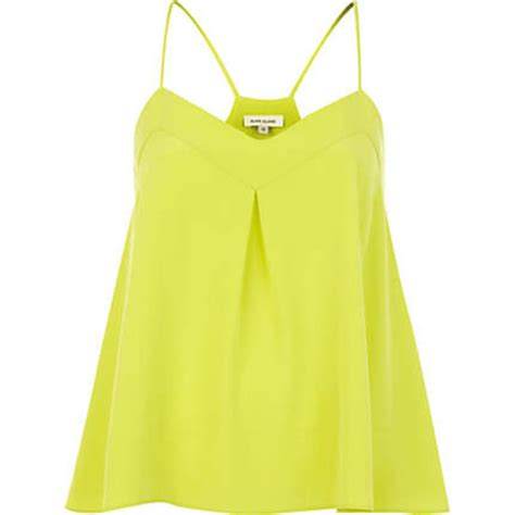yellow swing top shirt clothes cami yellow top swing tank top wheretoget