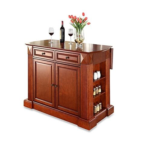 Crosley Furniture Hardwood Drop Leaf Breakfast Bar Kitchen | buy crosley furniture hardwood drop leaf breakfast bar