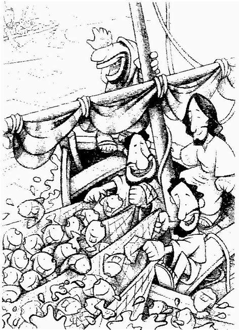 dibujos para colorear de la pesca milagrosa imagenes cristianas para colorear dibujo de la pesca