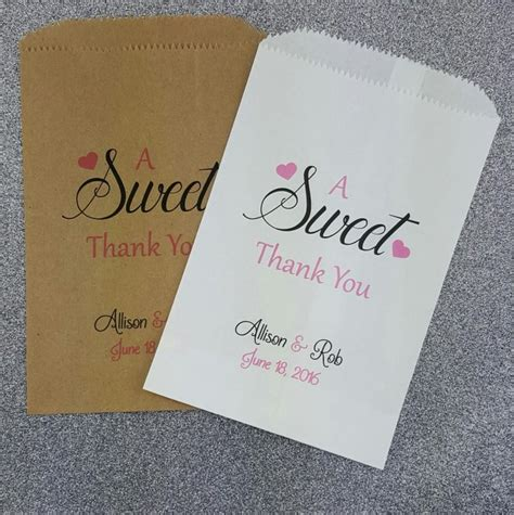 bags for buffet at wedding a sweet thank you wedding bag wedding buffet