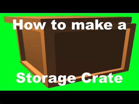 how to crate an how to make a crate chest in unturned