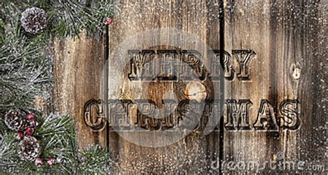 merry christmas rustic boards stock photography image