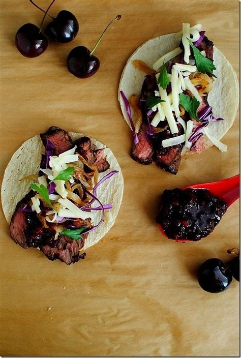Steak tacos with cherry chipotle salsa 30 delicious things to cook