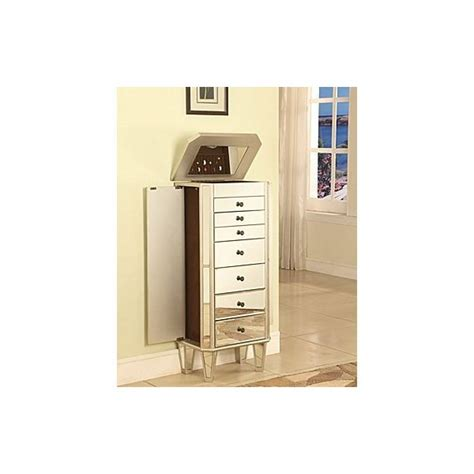 powell mirrored jewelry armoire with silver wood powell furniture mirrored jewelry armoire with quot silver quot wood 233 314