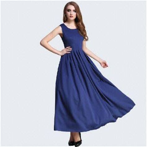 blue sleeveless dress models casual dresses for global sources