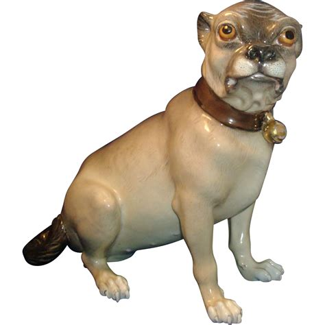 pug l base antique 19th century continental porcelain model of a pug from