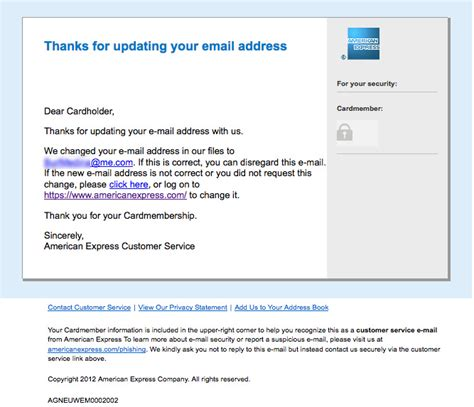 Using American Express Gift Card Online Billing Address - the daily scam american express email change