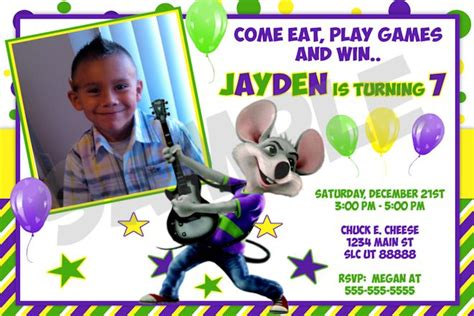 printable birthday invitations chuck e cheese chuck e cheese birthday invitations