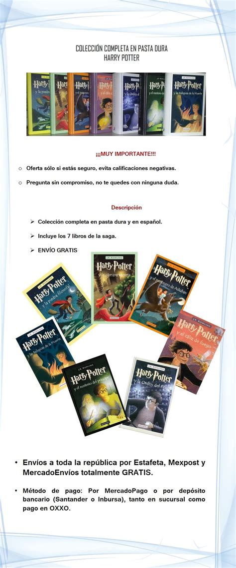 preguntas harry potter libros harry potter libros 4 5 y 6 en pasta dura 1850 cixsk