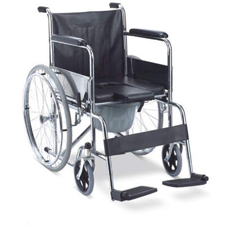 handicap toilet chair with wheels fast cure wheelchair with commode fs 609 u clickoncare