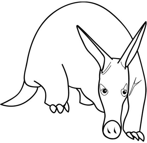 print out animal aardvark coloring page for kidsfree