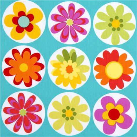 imagenes de rosas vectorizadas tela turquesa con margaritas de michael miller telas de